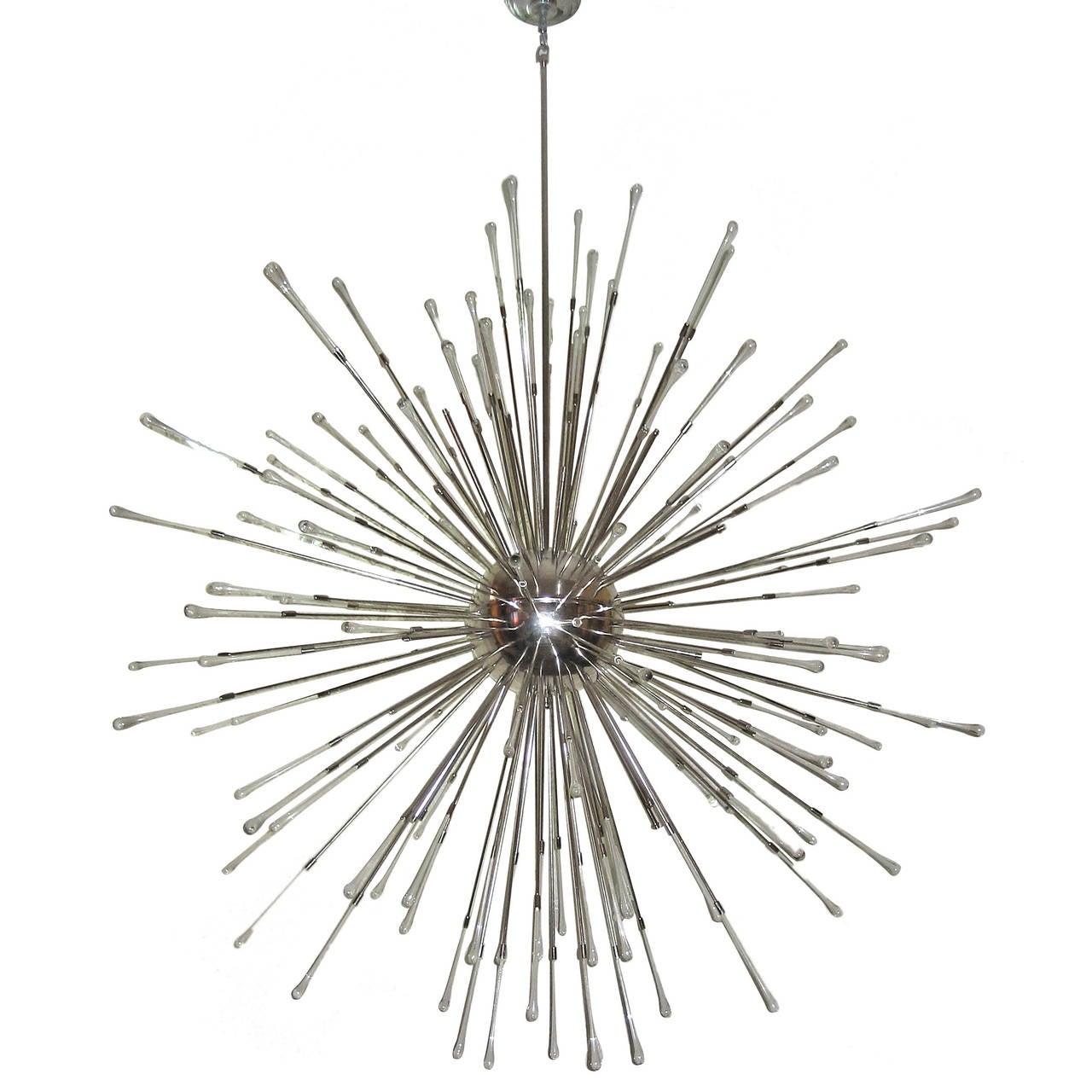 Very large moderne sputnik chandelier for sale at 1stdibs for Sputnik chandelier