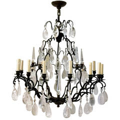 Rock Crystal Chandelier with 15 Lights