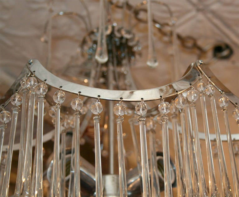 20th Century Pair of Glass Pendant Light Fixtures For Sale