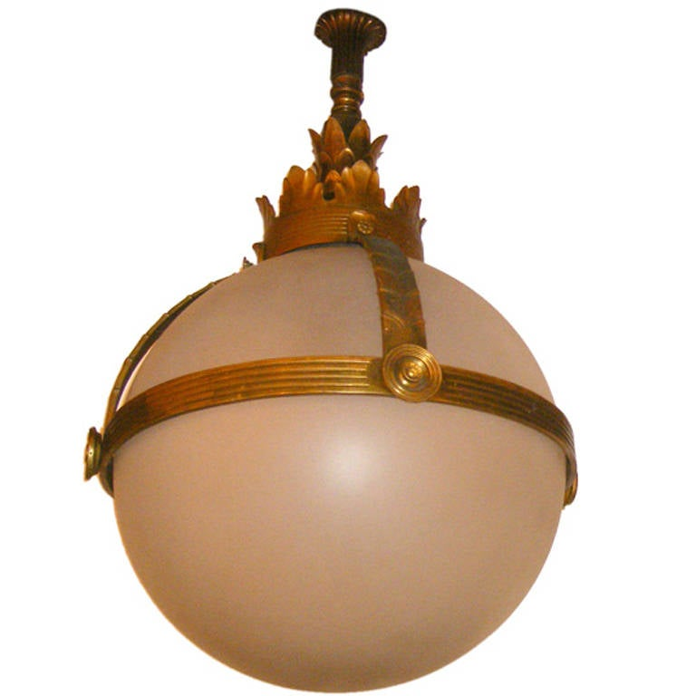 Frosted Glass Globe Lantern