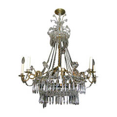 Swedish Neoclassic Crystal Chandelier
