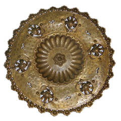 Hammered Brass Wall Plaque