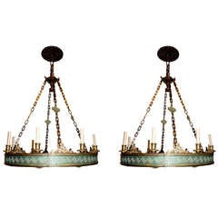 Pair of Neoclassic Chandeliers