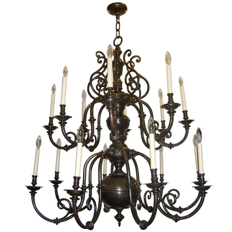 Dutch Double Tiered Chandelier 1920s at 1stdibs