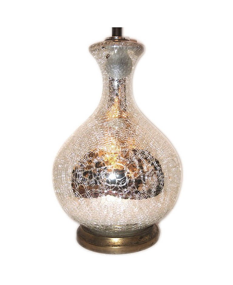 Large Crackled Mercury Glass Lamp For Sale At 1stdibs