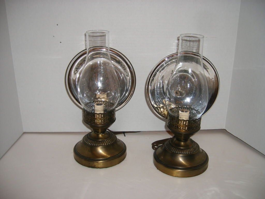 Pair of Mercury Glass Sconces at 1stdibs
