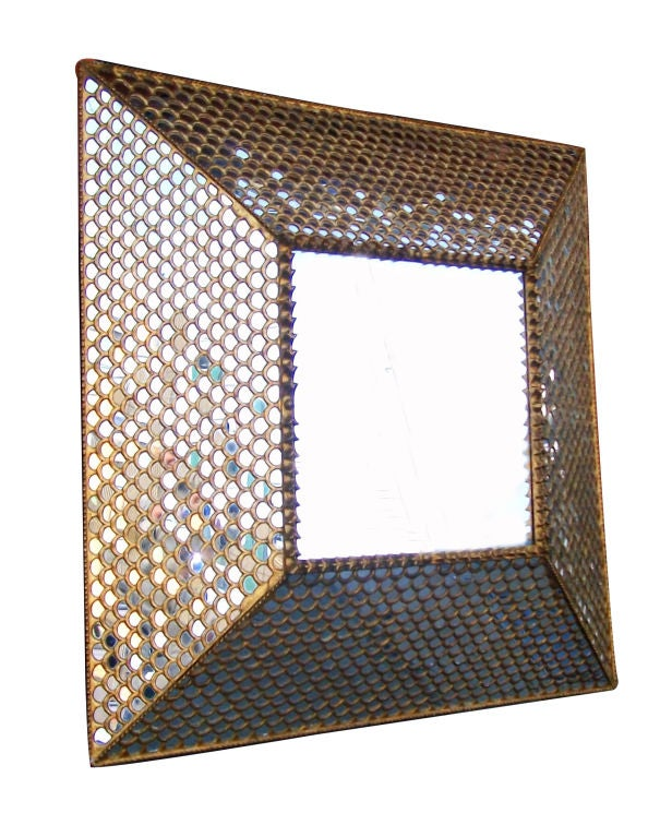 Pair of large square mirrors at 1stdibs for Large square mirror