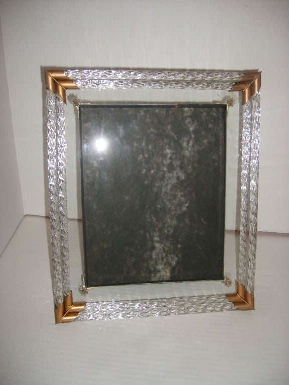 Art Deco Glass Picture Frame At 1stdibs
