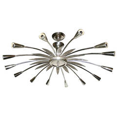 Silver Plated Moderne Light Fixture
