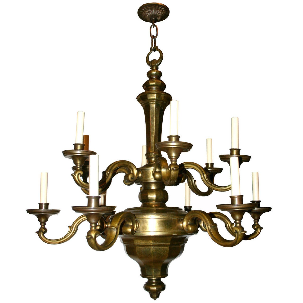 Dutch Double Tiered Chandelier For Sale at 1stdibs