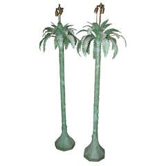 Pair of Palm Tree Floor Lamps