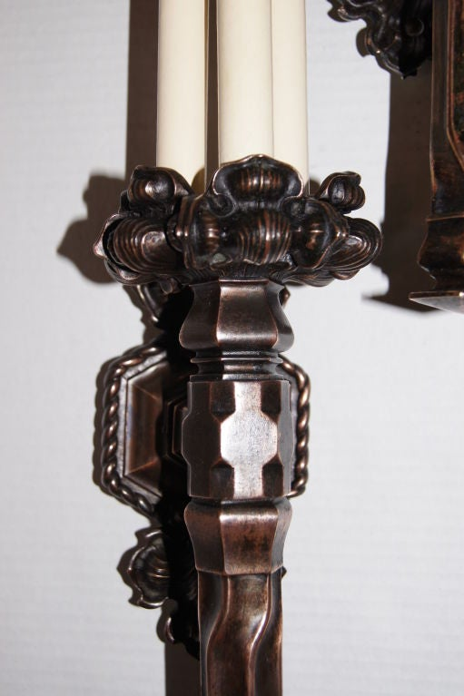 Large Gothic Wall Sconces : Set of 4 Large Gothic Style Sconces at 1stdibs