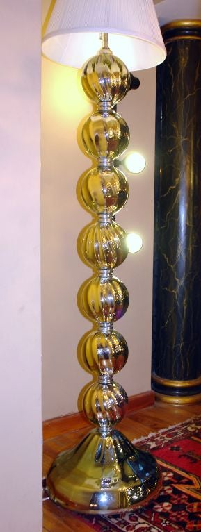 pair of mercury glass floor lamp image 4. Black Bedroom Furniture Sets. Home Design Ideas
