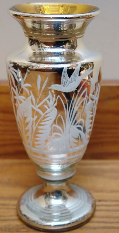 Mercury Glass Vase For Sale At 1stdibs