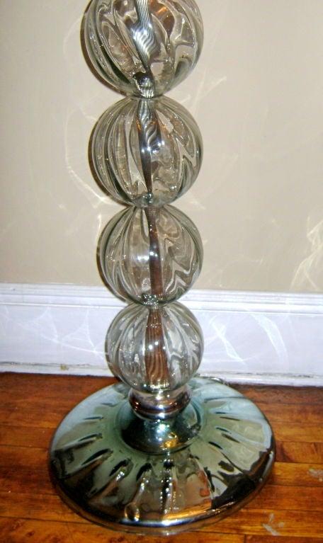 Venetian glass floor lamp at 1stdibs for Venetian glass floor lamp