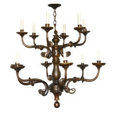 Pair of Large Dutch Chandeliers