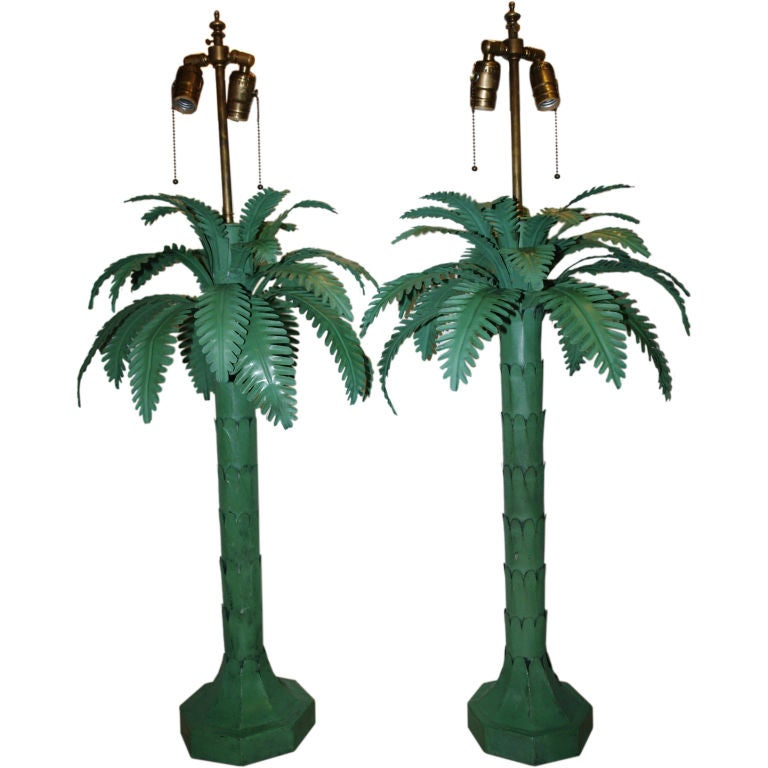 palm tree table lamps at 1stdibs. Black Bedroom Furniture Sets. Home Design Ideas