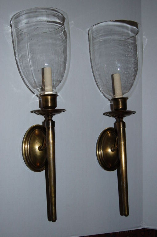 Hurricane Wall Sconces Lamps : Hurricane Sconces at 1stdibs