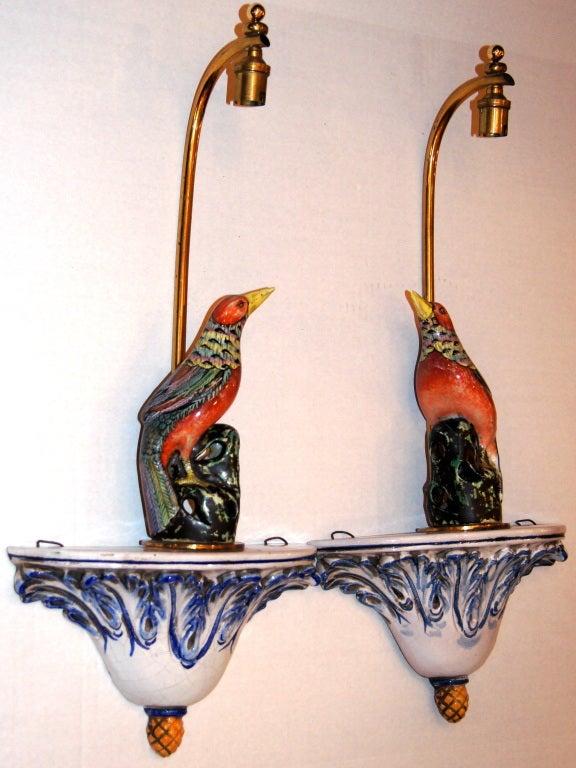 Porcelain Bird Sconces At 1stdibs