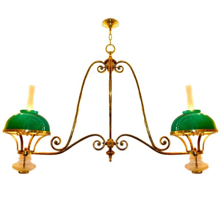 Brass Billiard Light Fixture