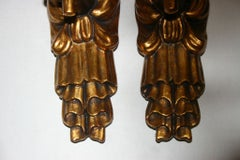 Carved Wood Hand Sconces