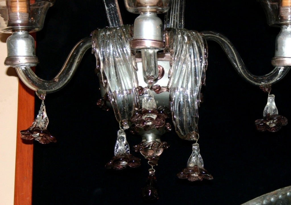 Pair of Venetian Glass Sconces For Sale at 1stdibs