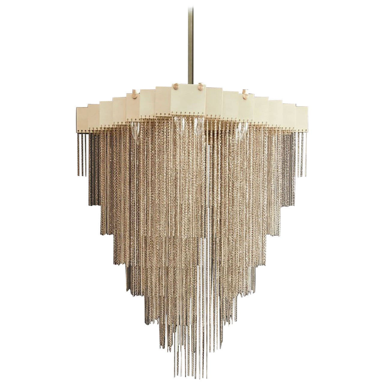 Welles long modular chandelier in customizable dimensions and welles long modular chandelier in customizable dimensions and finishes black for sale at 1stdibs arubaitofo Images