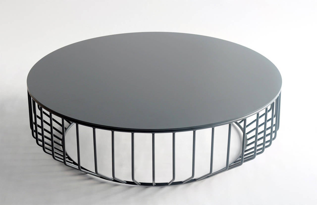 Delightful Wired Coffee Table (Steel Top) By Phase Design 2