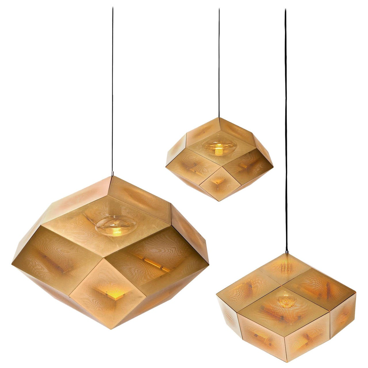extremely rare etch pendants by tom dixon for sale at 1stdibs. Black Bedroom Furniture Sets. Home Design Ideas