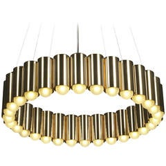 Carousel Polished Gold Chandelier by Lee Broom