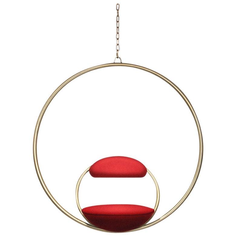 Hanging Hoop Chair U0027Brassu0027 By Lee Broom 1