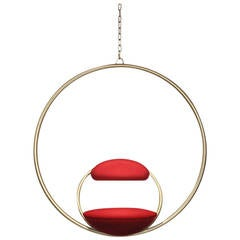 Hanging Hoop Chair 'Brass' by Lee Broom