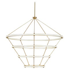 Four Ring Halo Chandelier by Paul Loebach for Roll & Hill