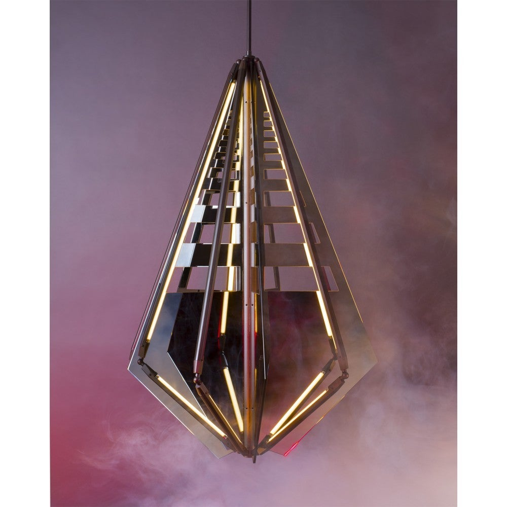 Brass Echo 4 Pendant Light by Bec Brittain For Sale