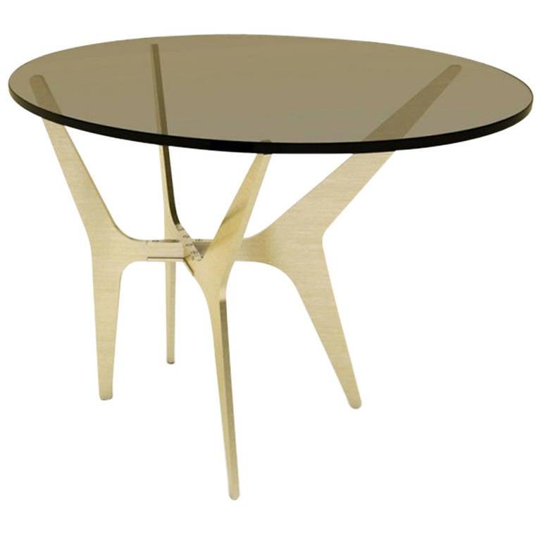 Dean Oval Side Table by Gabriel Scott