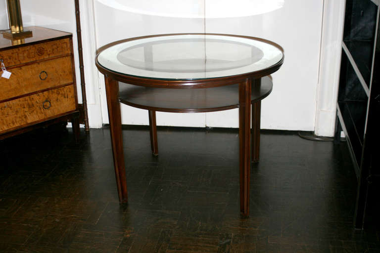 Mid 20th century mahogany center table at 1stdibs for Mid 20th century furniture