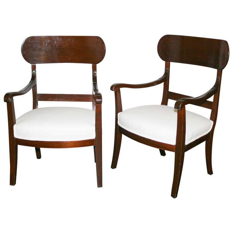 Pair of Early 19th Century Mahogany Slipper Chairs