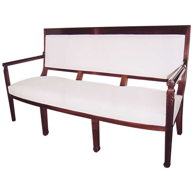 19th century directoire mahogany canape at 1stdibs for Canape directoire