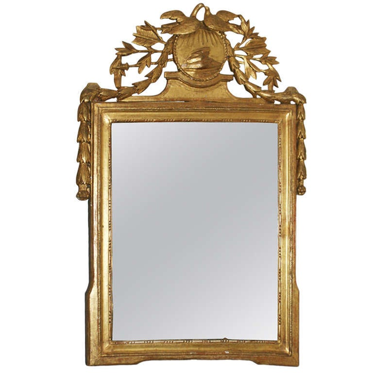 19th Century Carved Giltwood Mirror For Sale