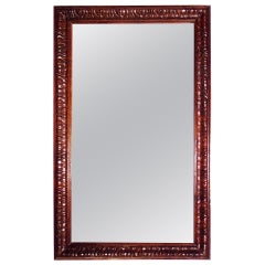 Late 19th Century Stained and Polished Fruitwood Mirror