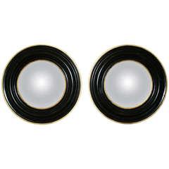 Pair of 20th Century Circular Mirrors