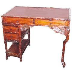 19th Century Padouk-Wood Japonaiserie Desk