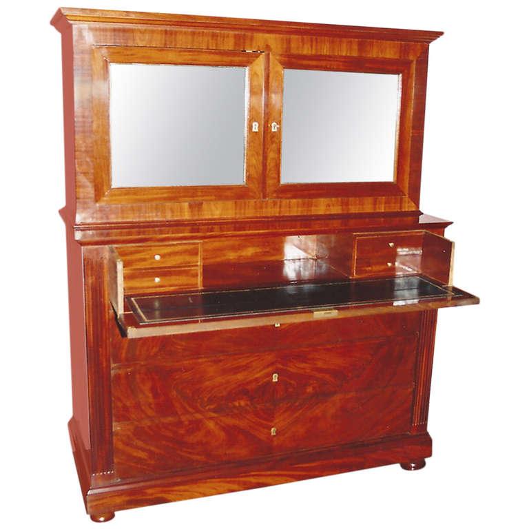 19th Century Mahogany Secretaire/Commode