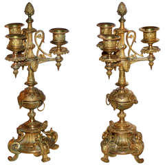 Pair of 19th Century Louis-Phillipe Ormolu Candelabras