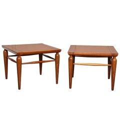 Pair of Mid-Century Walnut Tables