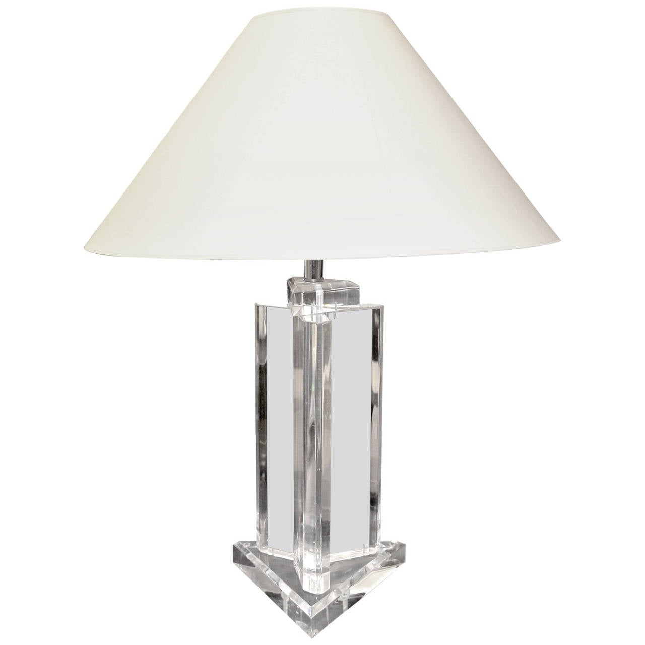 Late 20th Century Lucite Table Lamp