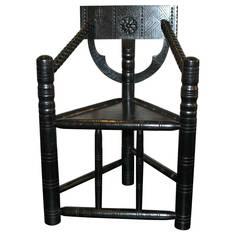 19th Century Ebonized Turner Chair