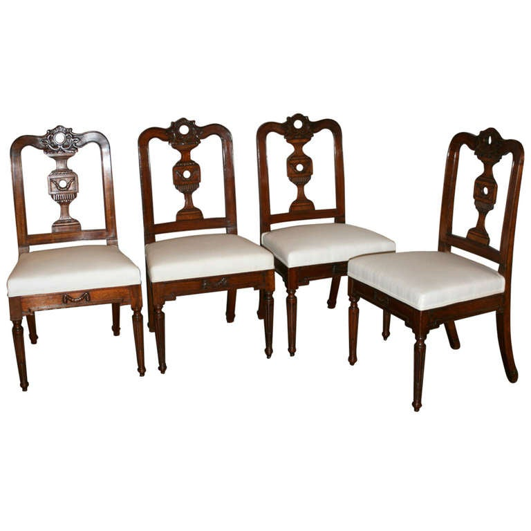 Set of Four, 19th Century Mahogany Dining Chairs