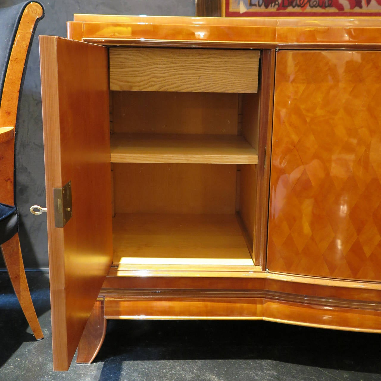 Sycamore Parquetry Sideboard by Jules Leleu and Goulet 7