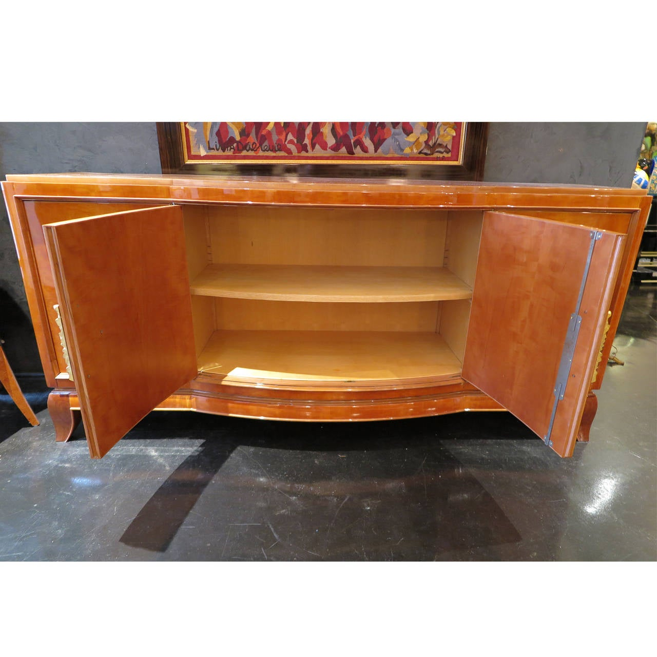 Sycamore Parquetry Sideboard by Jules Leleu and Goulet 6